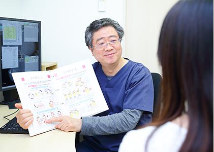 日本乳がん学会認定医を所持した医師による診断